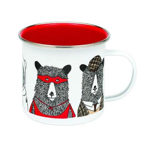 Bear Family Enamel Mug - Jimbob Art