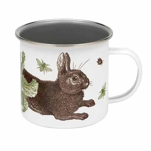 Thornback & Peel Enamel Mug - Rabbit & Cabbage