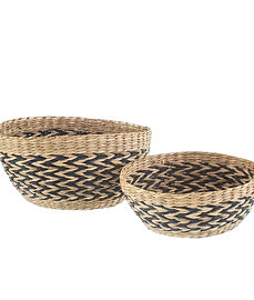 Set of 2 Seagrass Bowls
