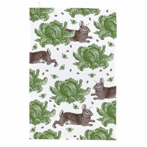 Thornback & Peel Tea Towel - Rabbit & Cabbage