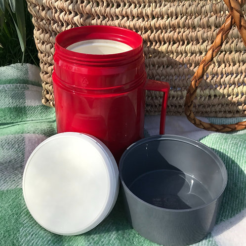 Vintage Thermos Food Flask - Red