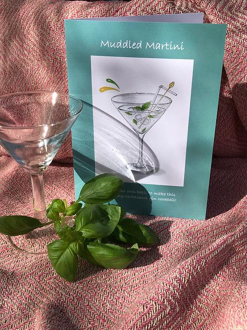 Muddled Martini Recipe Card