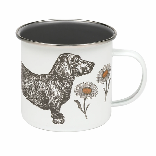 Thornback & Peel Enamel Mug - Dog & Daisy
