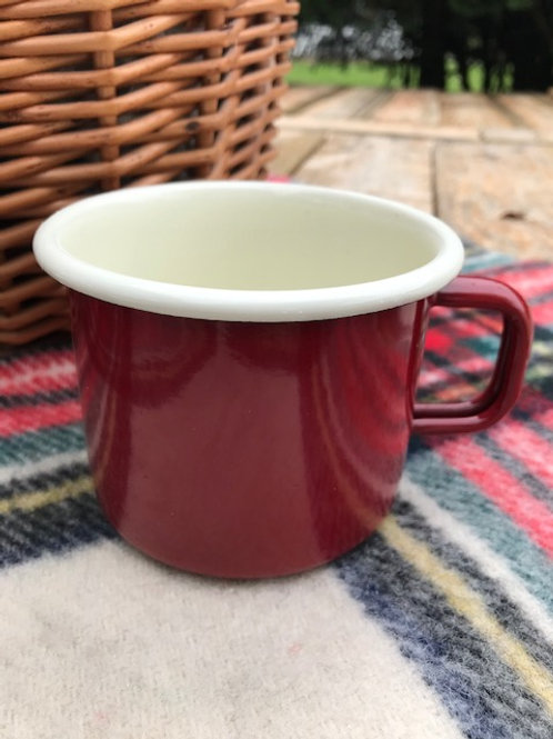 Red Enamel Mug