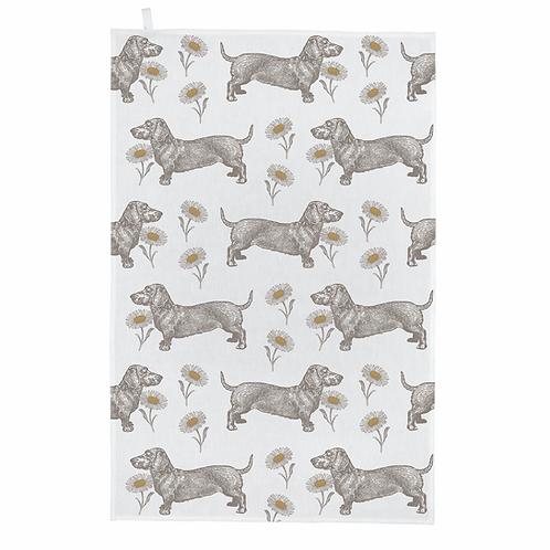 Thornback & Peel Tea Towel - Dog & Daisy