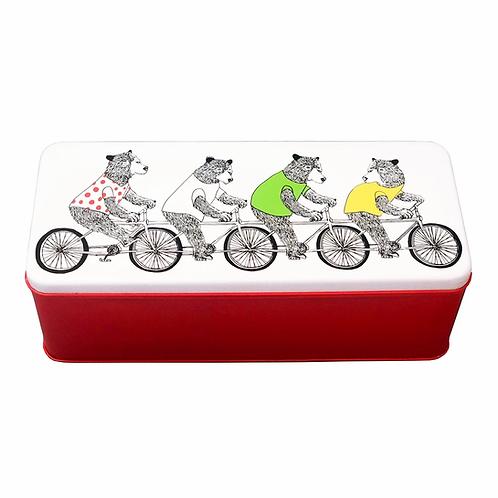 Cycling Bears Tin - Jimbob Art
