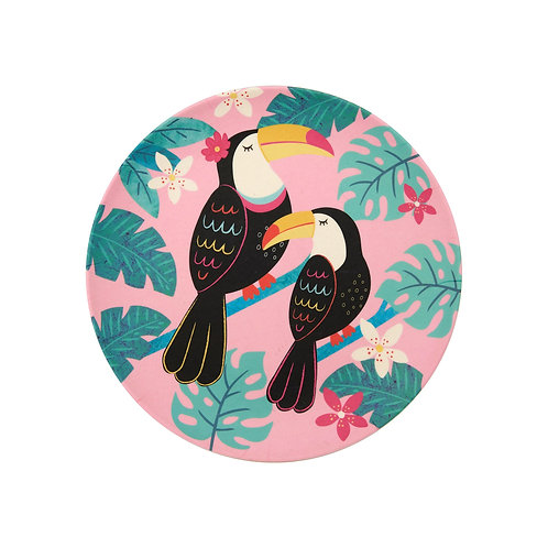 Toucan Bamboo Plate