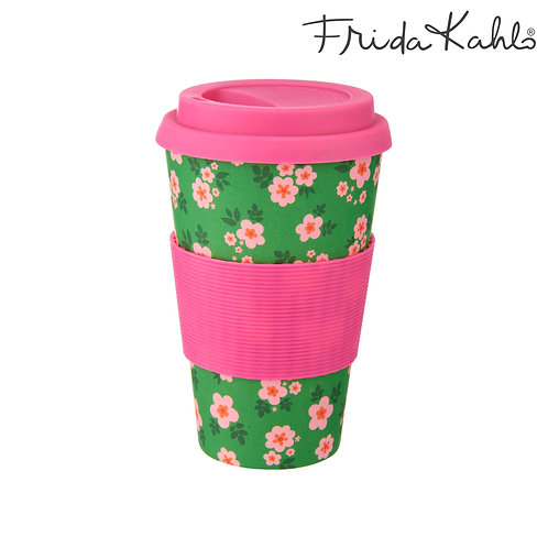Frida Kahlo Bamboo Travel Mug
