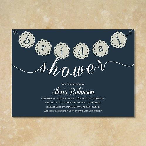 Bridal Banner Shower Invitation (Set of 25)