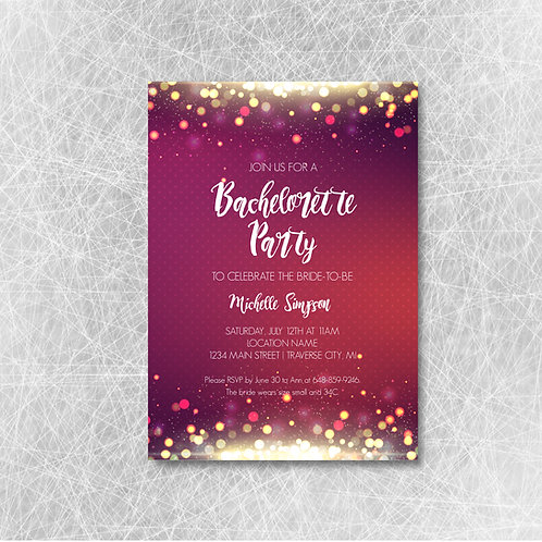 Bokeh Blur Bachelorette (Set of 25)