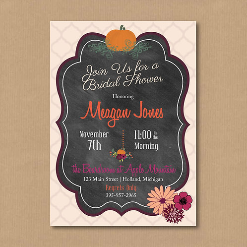 Autumn Bridal Shower Invitation (Set of 25)