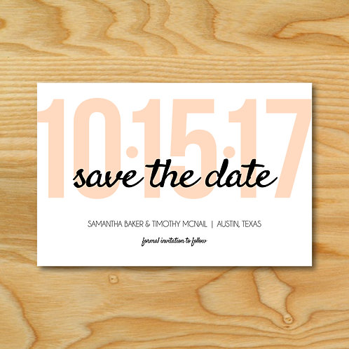 Large Date Save the Date (Set of 25)