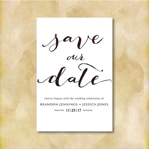 Calligraphic Save the Date (Set of 25)