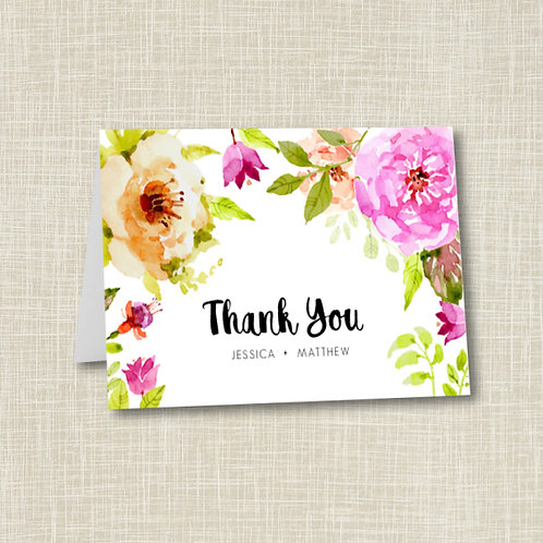 Spring Floral Thank You (Set of 25)