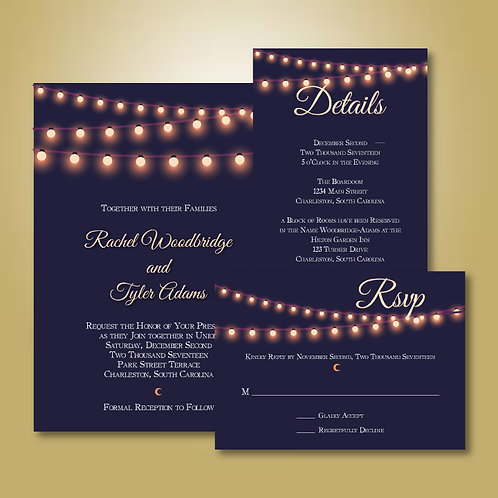 Winter Moonlight Invitation Set (Set of 25)
