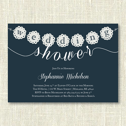 Wedding Shower Invitation (Set of 25)