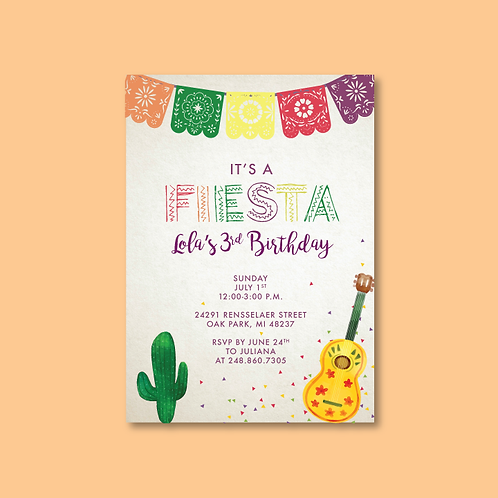 Fiesta Birthday Invitation (Set of 25)