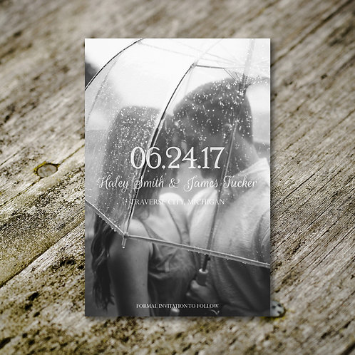 Black and White Save the Date (Set of 25)