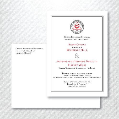 CTU Ribbon Cutting Invitation (Set of 125)