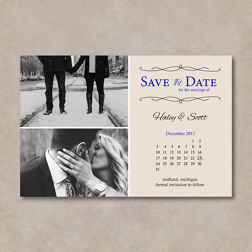 Calendar Save the Date (Set of 25)