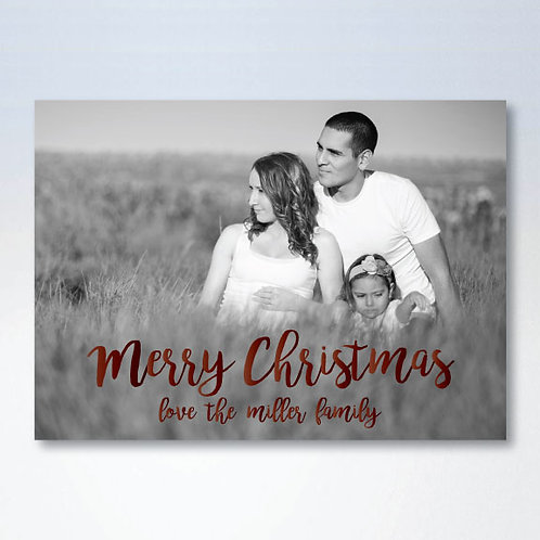 Christmas Script Card (Set of 25)