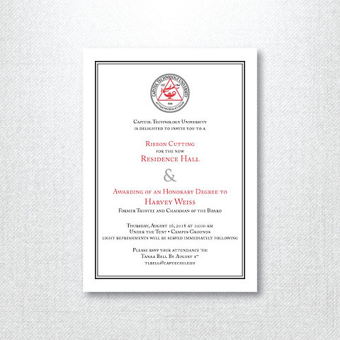 Ctu Ribbon Cutting Invitation Set Of 125