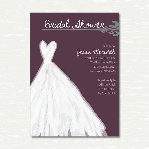 Wedding Dress Shower Invitation (Set of 25)