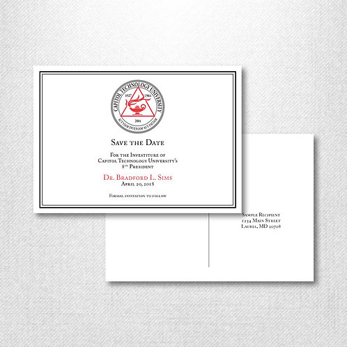 CTU Investiture Save the Date (Set of 500)