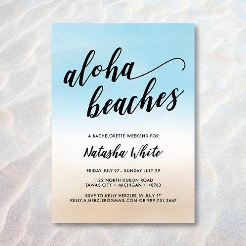 Aloha Beaches Bachelorette (Set of 35)