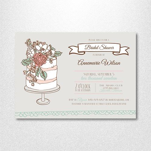 Wedding Cake Shower Invitation (Set of 25)