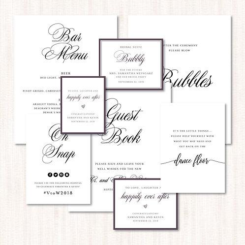 Wedding Signage (Assorted)