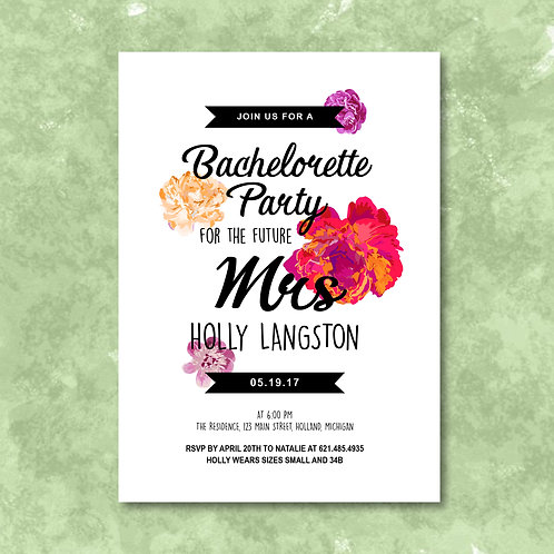 Scattered Floral Bachelorette (Set of 25)