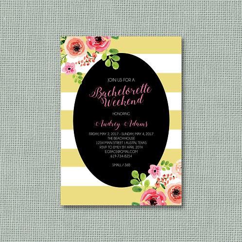 Striped Floral Bachelorette (Set of 25)