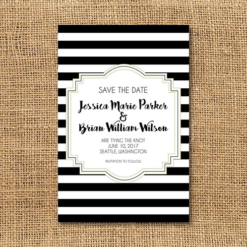 Striped Save the Date (Set of 25)