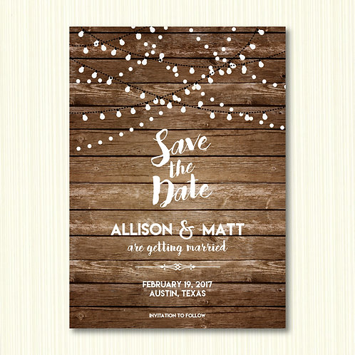 Rustic Save the Date (Set of 100)