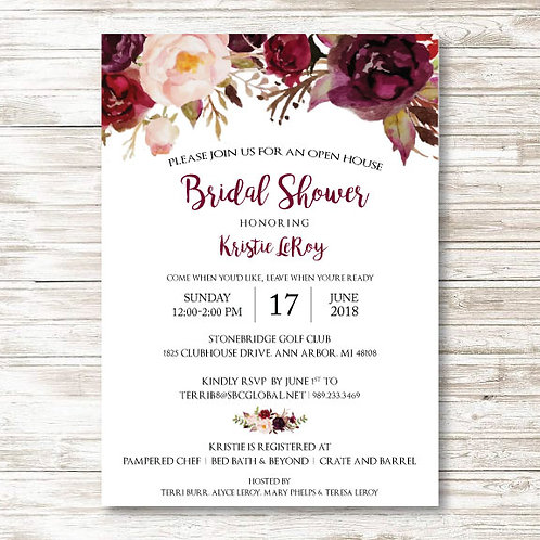 LeRoy Bridal Shower (Set of 25)