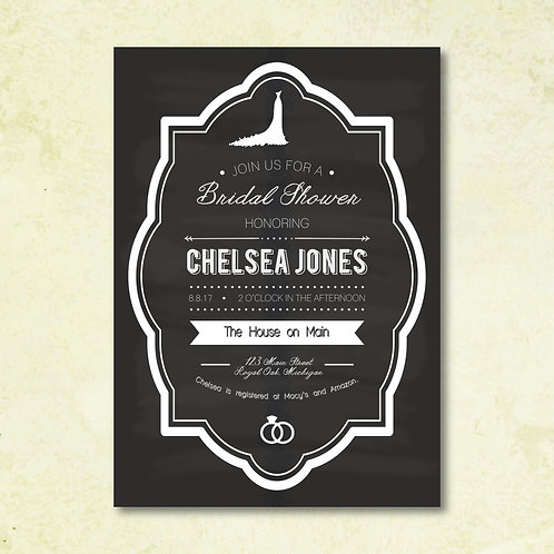Chalkboard Bridal Shower Invitation (Set of 25)