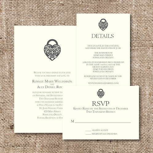 Elegance Invitation Set (Set of 25)