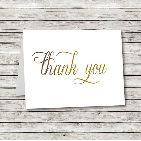 Simple Script Thank You (Set of 25)