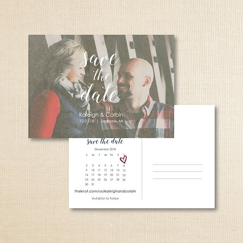 Kaleigh & Corbin Save the Date (Set of 250)