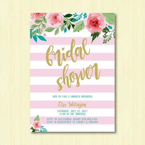 Summertime Shower Invitation (Set of 25)
