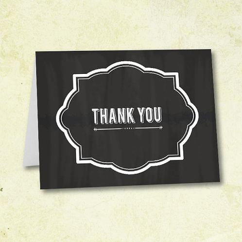 Chalkboard Thank You (Set of 25)