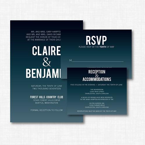 Large Lettering Invitation Set (Set of 25)