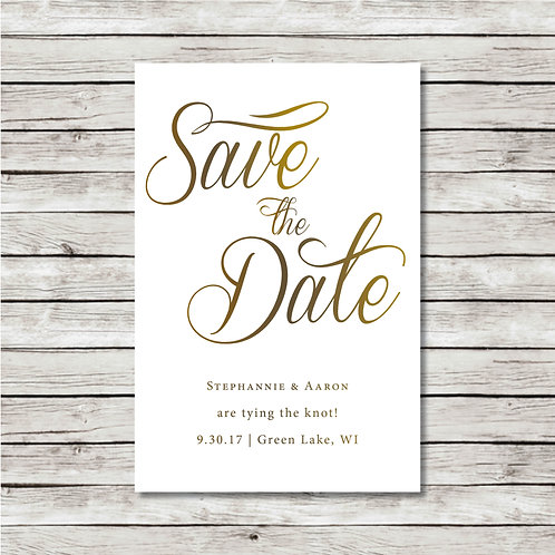 Simple Script Save the Date (Set of 25)
