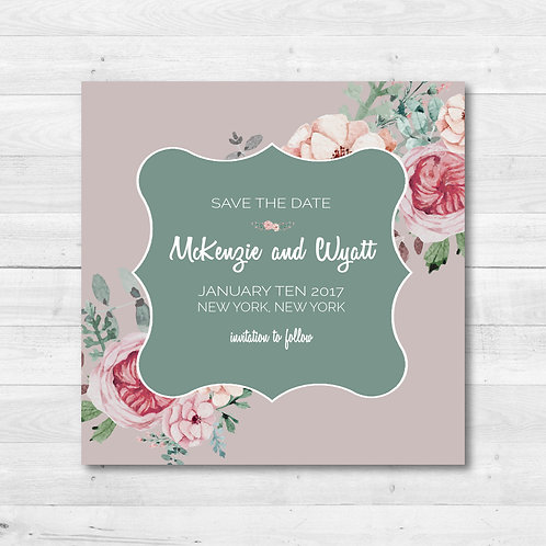 Warm Gray Save the Date (Set of 25)