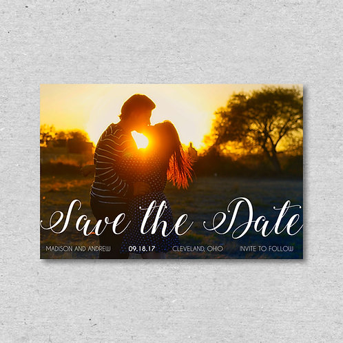 Sunset Save the Date (Set of 25)