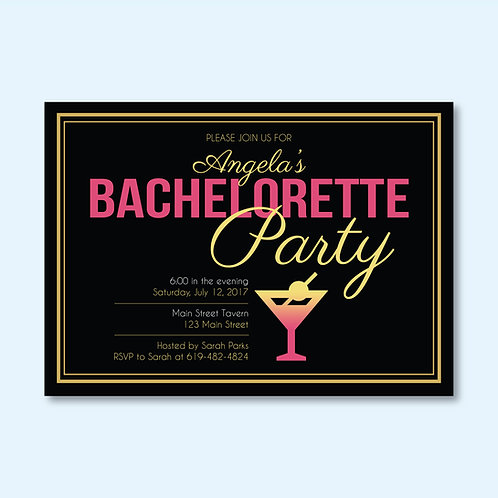 Gold & Pink Bachelorette (Set of 25)