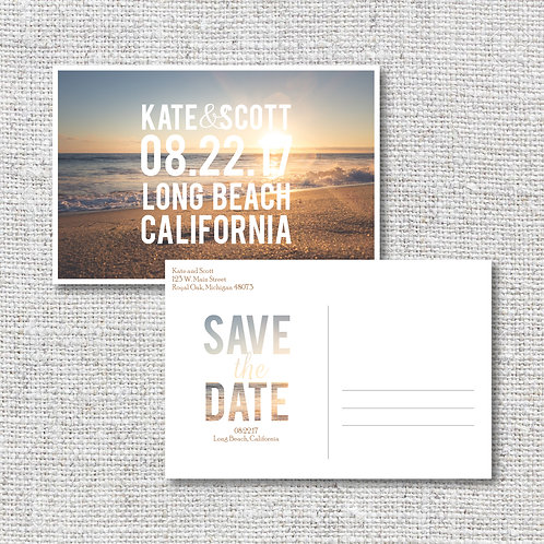 Beach Save the Date (Set of 25)