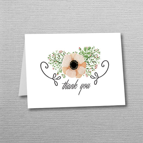 Pastel Floral Thank You (Set of 25)