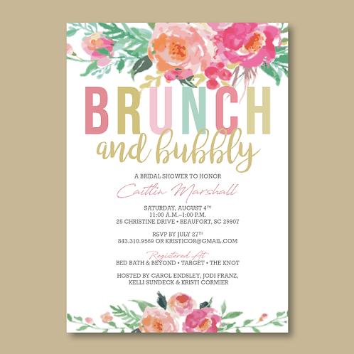 Brunch & Bubbly Bridal Shower (Set of 30)